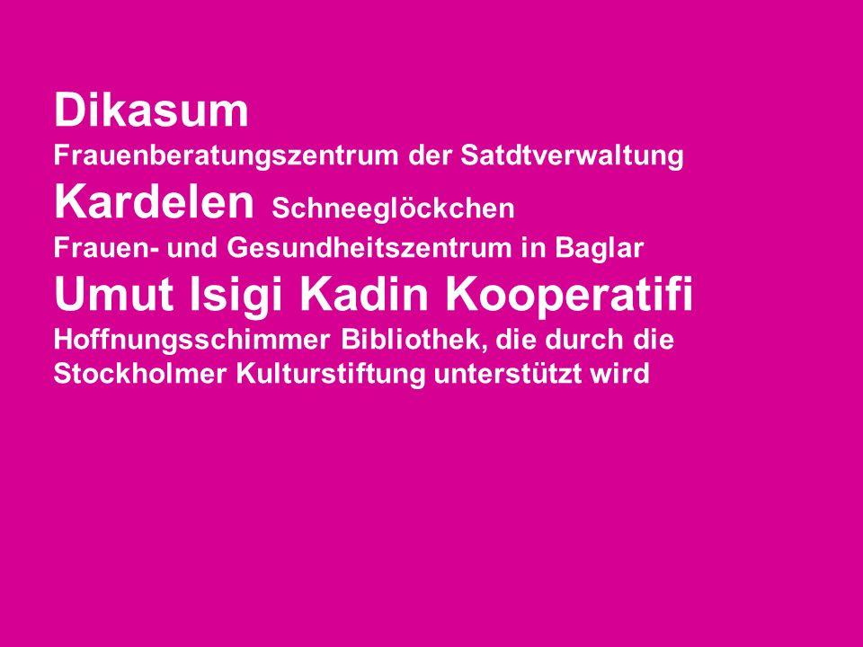 Dikasum Frauenberatungszentrum der Satdtverwaltung Kardelen Schneeglöckchen. Frauen- und Gesundheitszentrum in Baglar.