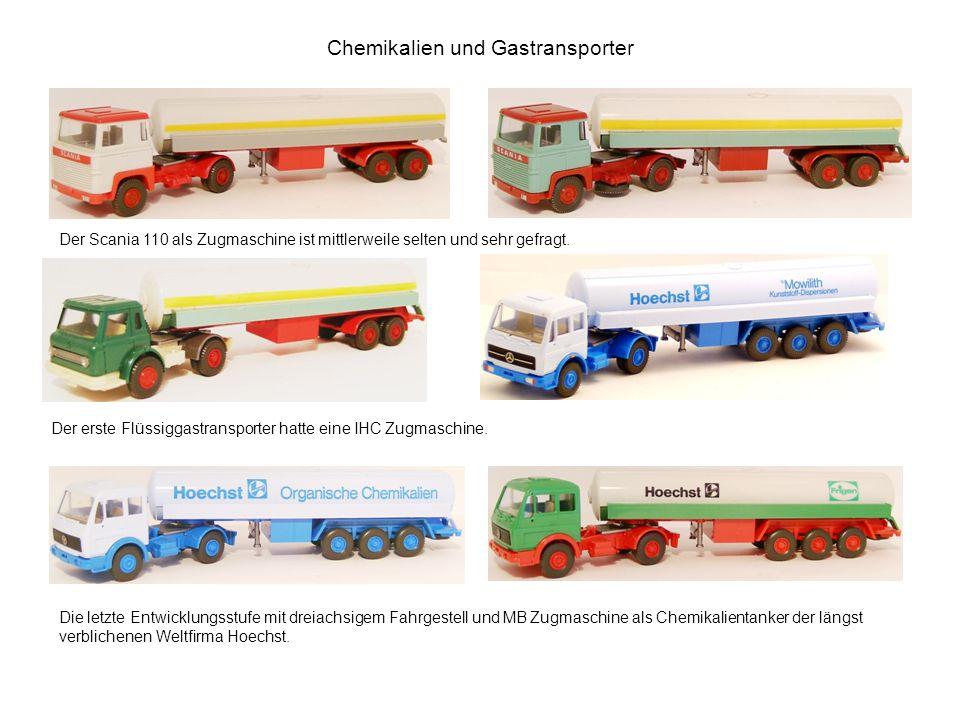 Chemikalien und Gastransporter