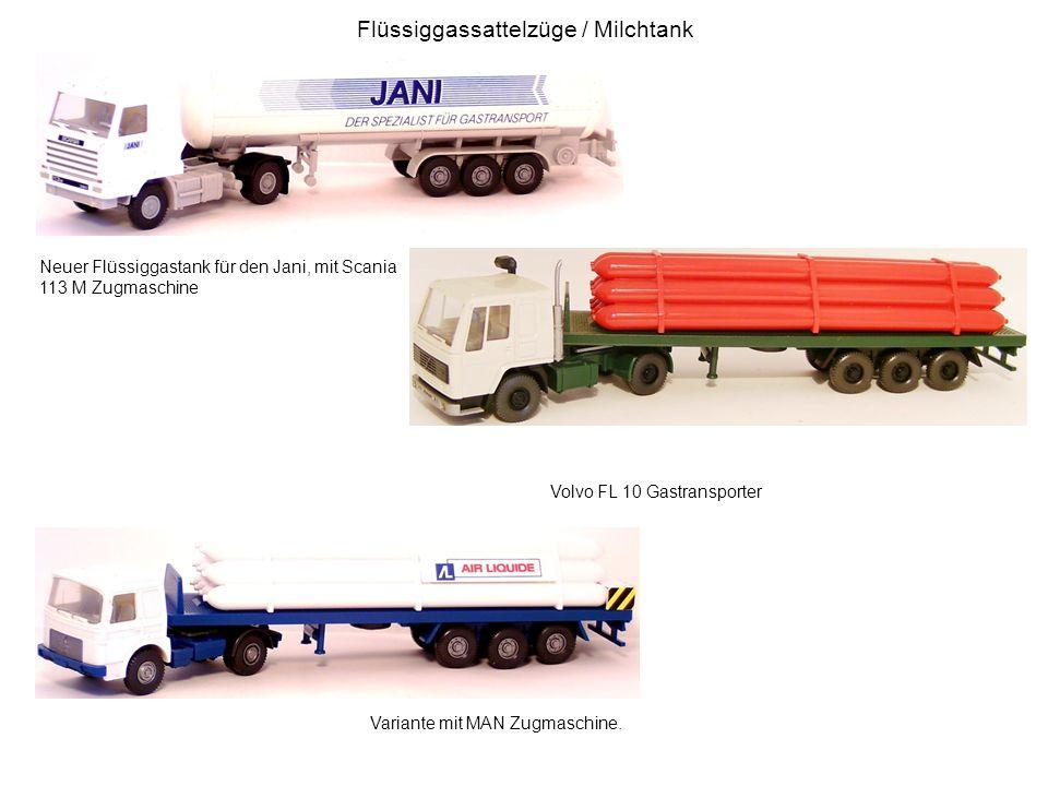 Flüssiggassattelzüge / Milchtank