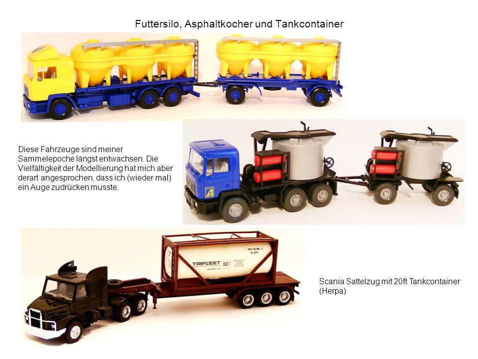 Futtersilo, Asphaltkocher und Tankcontainer