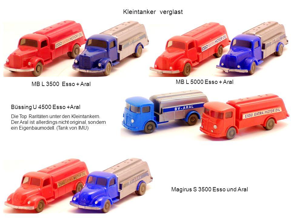 Kleintanker verglast MB L 5000 Esso + Aral MB L 3500 Esso + Aral