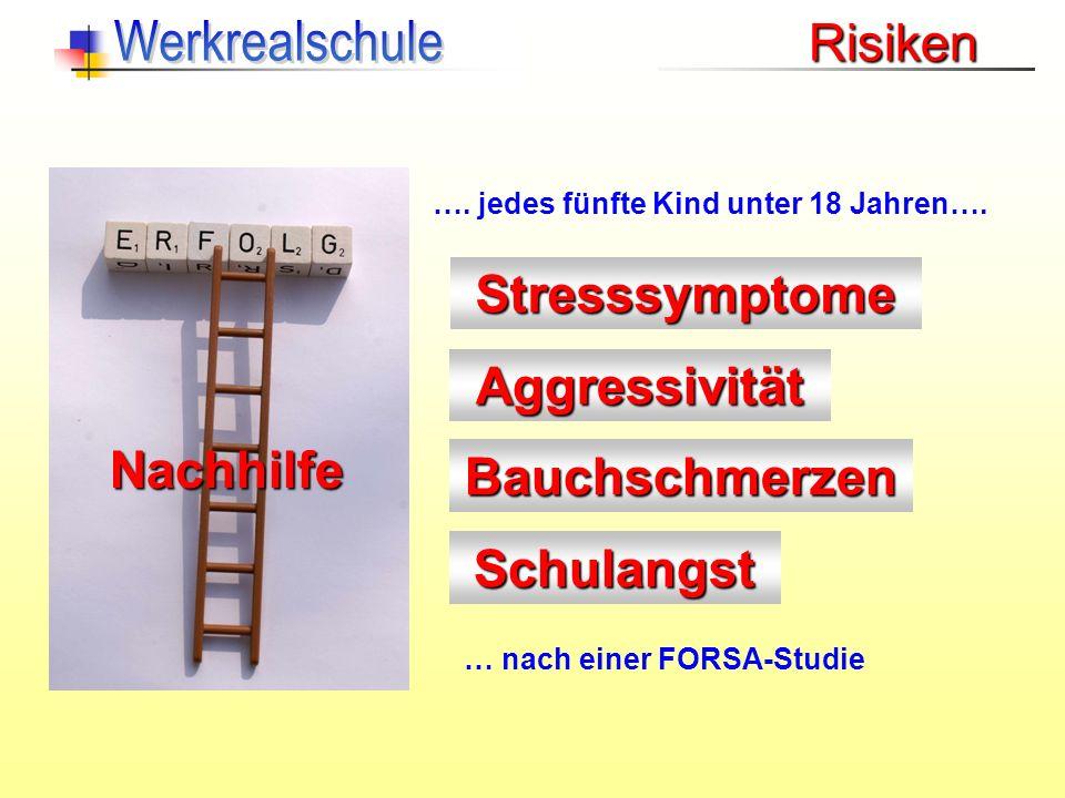 Werkrealschule Risiken Stresssymptome Aggressivität Nachhilfe