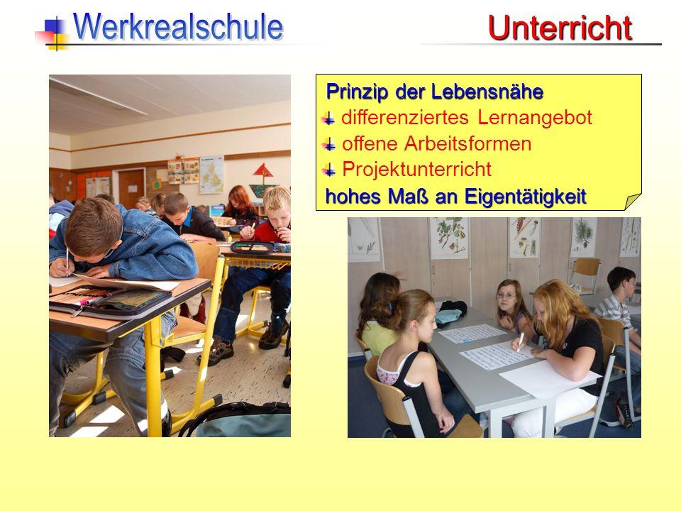 Werkrealschule Unterricht Prinzip der Lebensnähe