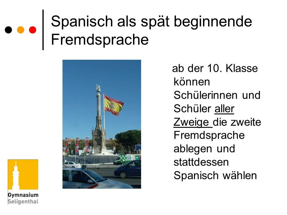 Spanisch als spät beginnende Fremdsprache