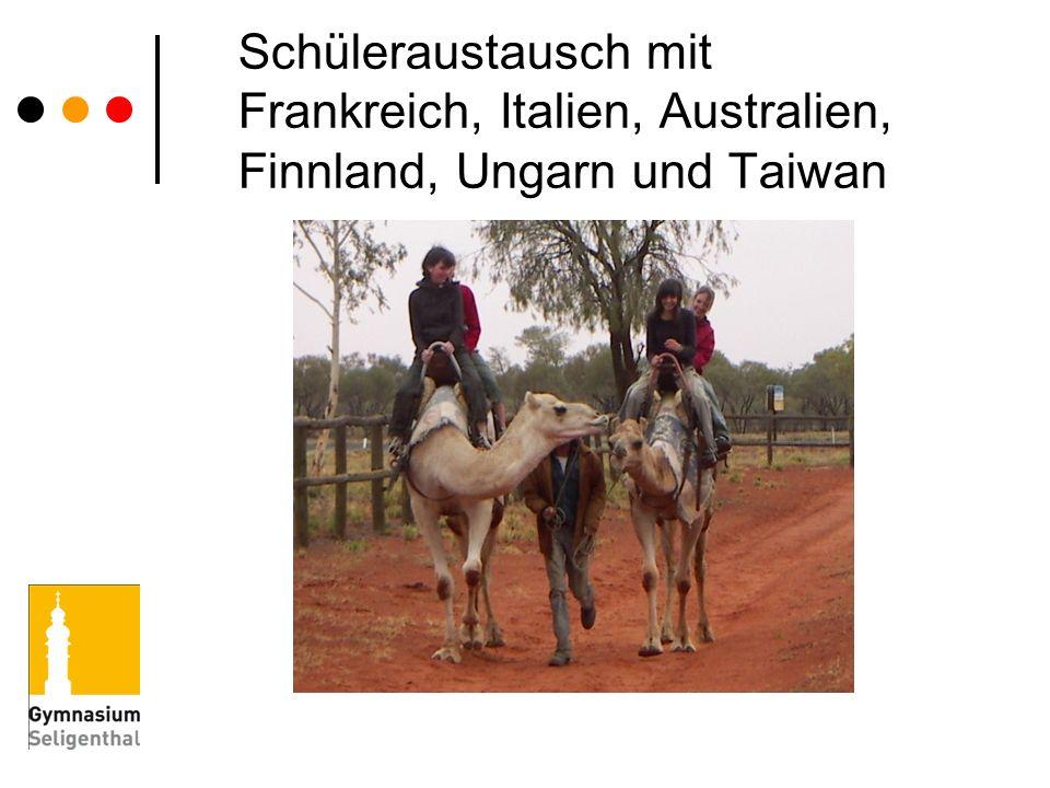 Schüleraustausch mit Frankreich, Italien, Australien, Finnland, Ungarn und Taiwan
