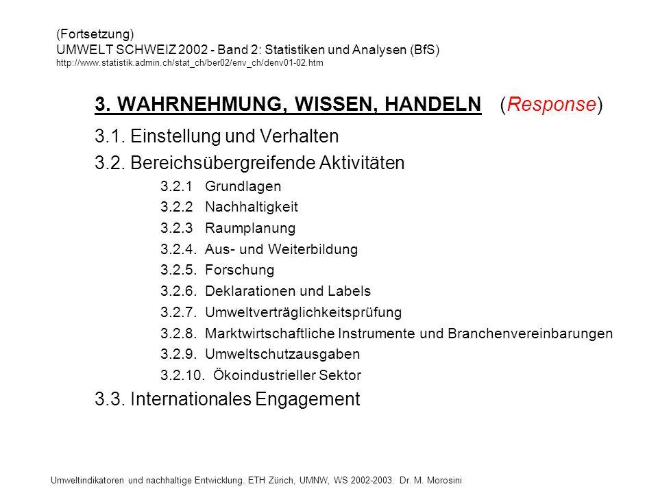 3. WAHRNEHMUNG, WISSEN, HANDELN (Response)