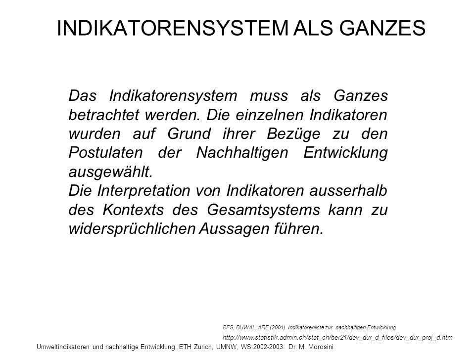 INDIKATORENSYSTEM ALS GANZES