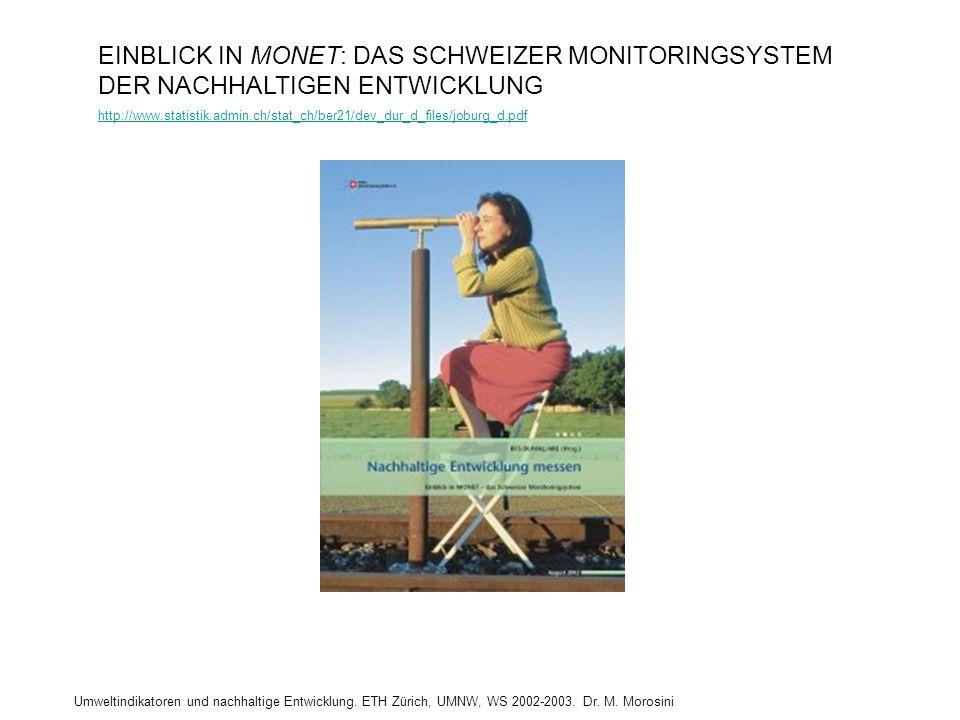 EINBLICK IN MONET: DAS SCHWEIZER MONITORINGSYSTEM