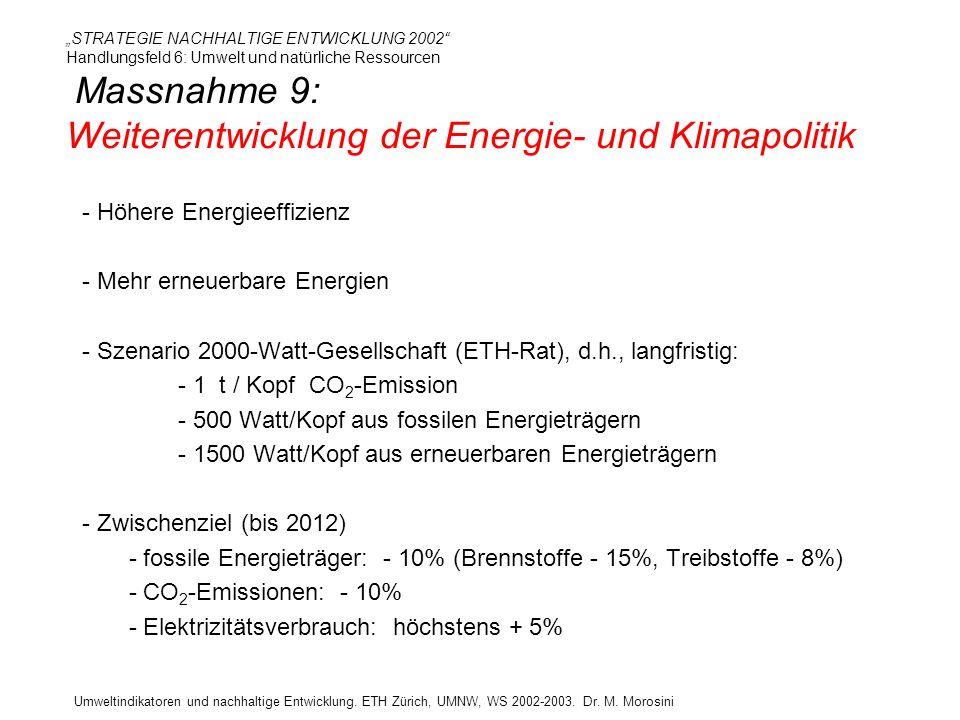 - Höhere Energieeffizienz Mehr erneuerbare Energien