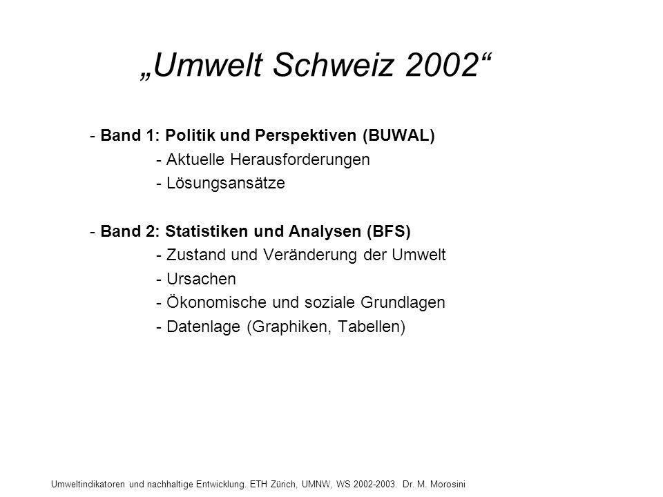 """""""Umwelt Schweiz 2002 Band 1: Politik und Perspektiven (BUWAL)"""