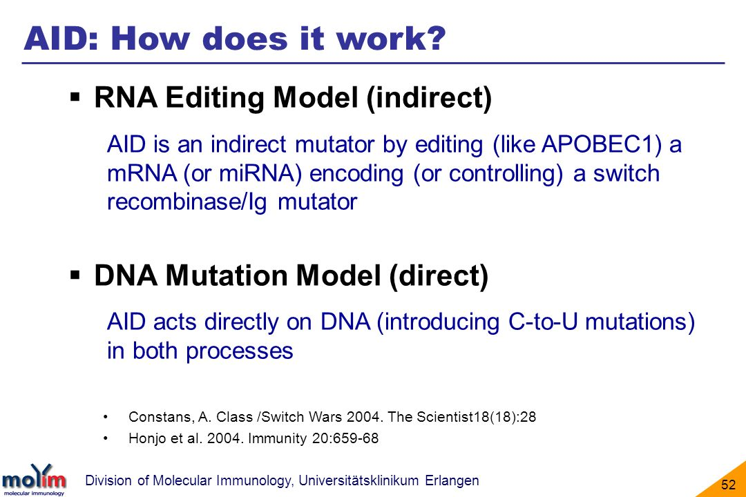 AID: How does it work RNA Editing Model (indirect)