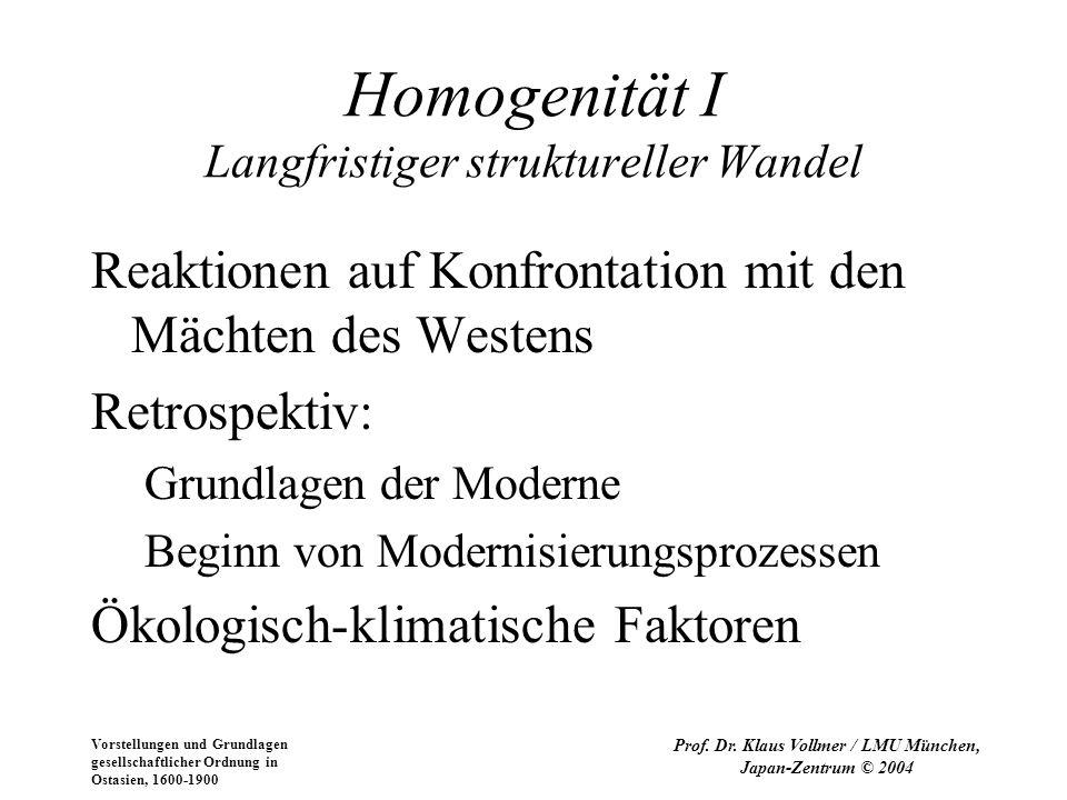 Homogenität I Langfristiger struktureller Wandel