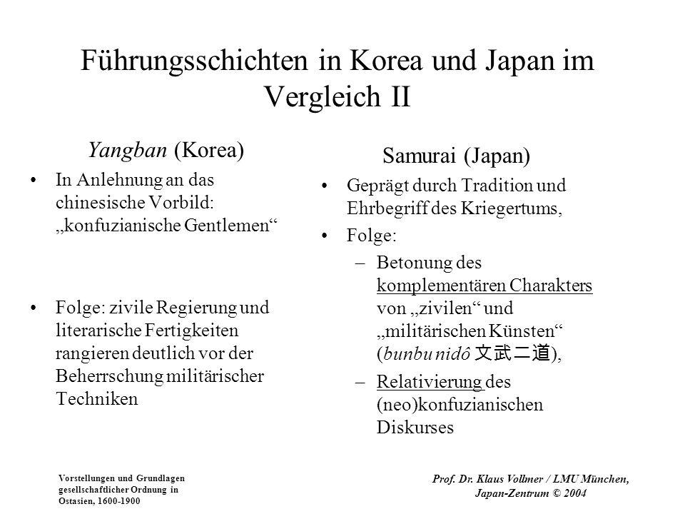 Führungsschichten in Korea und Japan im Vergleich II