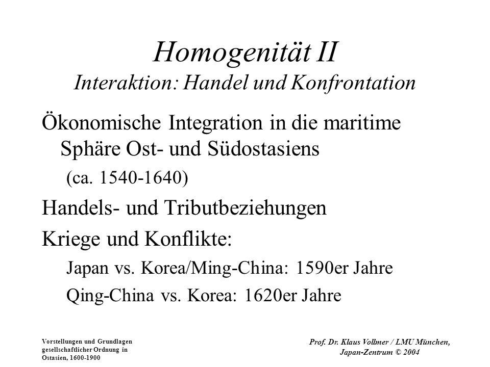 Homogenität II Interaktion: Handel und Konfrontation