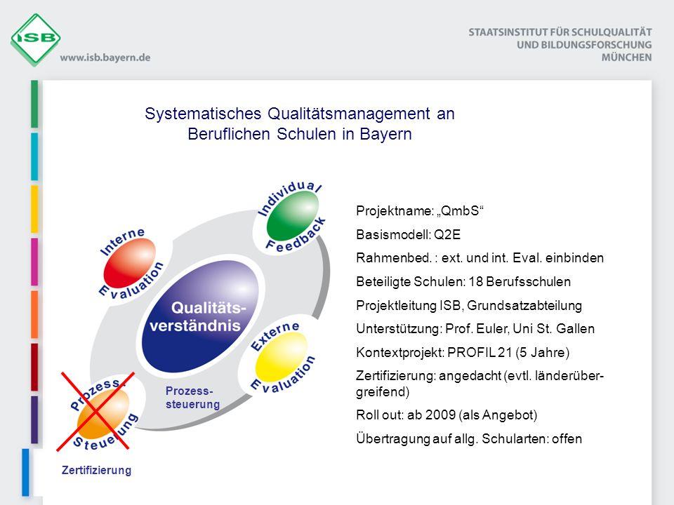 Systematisches Qualitätsmanagement an Beruflichen Schulen in Bayern