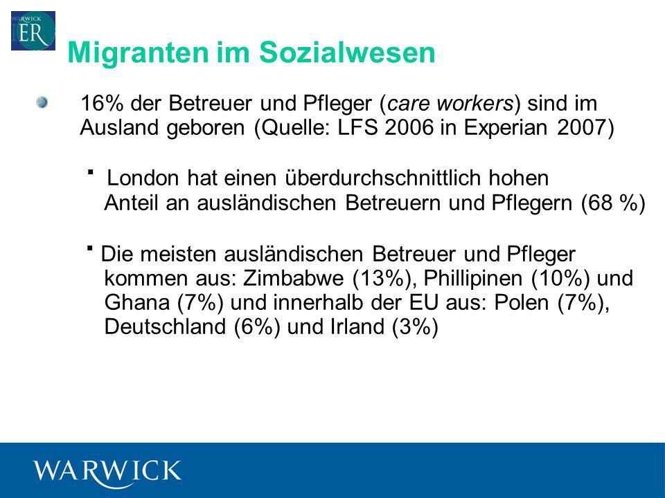 Migranten im Sozialwesen
