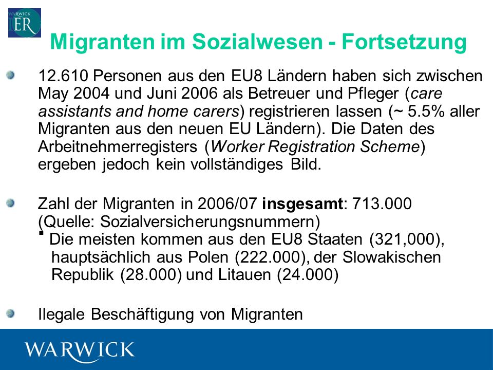 Migranten im Sozialwesen - Fortsetzung