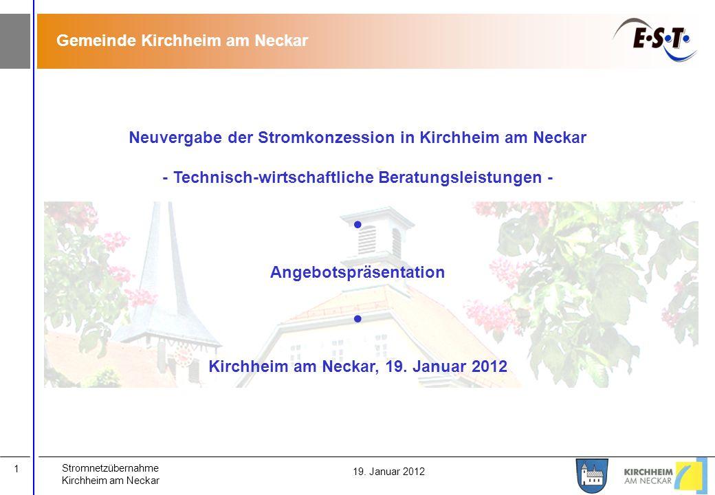 Angebotspräsentation Kirchheim am Neckar, 19. Januar 2012