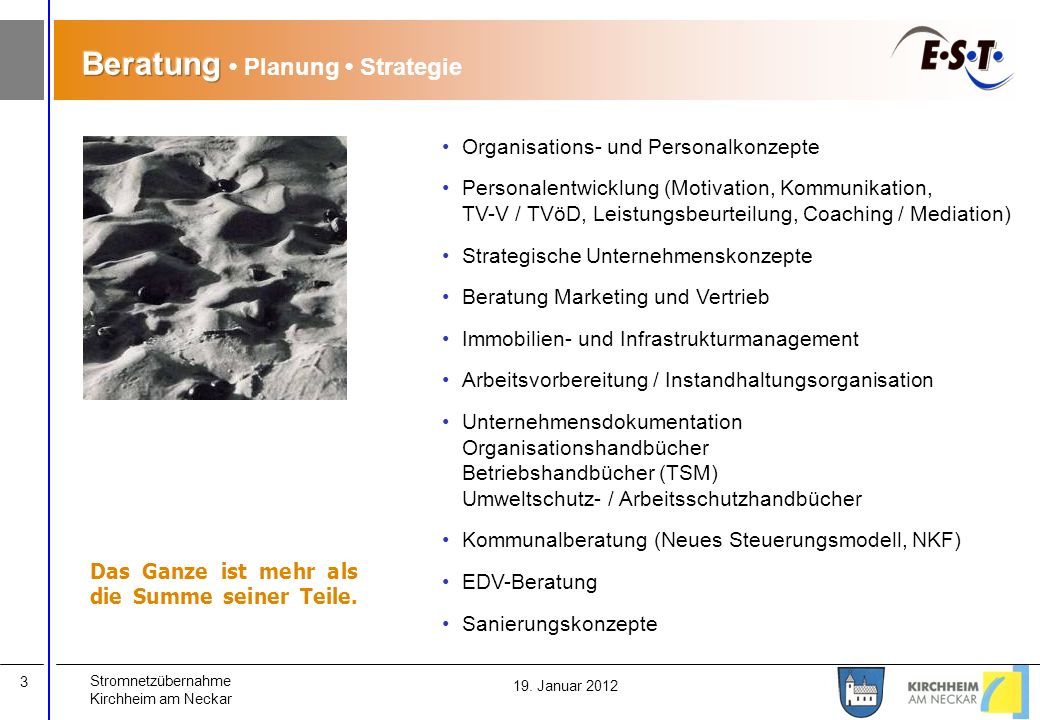 Beratung • Planung • Strategie