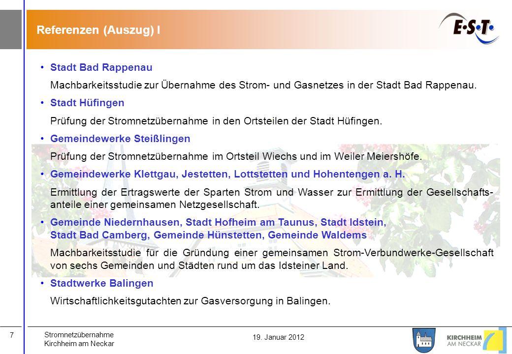 Referenzen (Auszug) I Stadt Bad Rappenau
