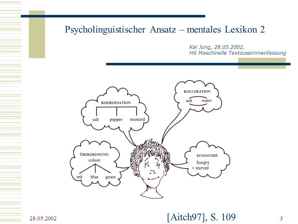 Psycholinguistischer Ansatz – mentales Lexikon 2