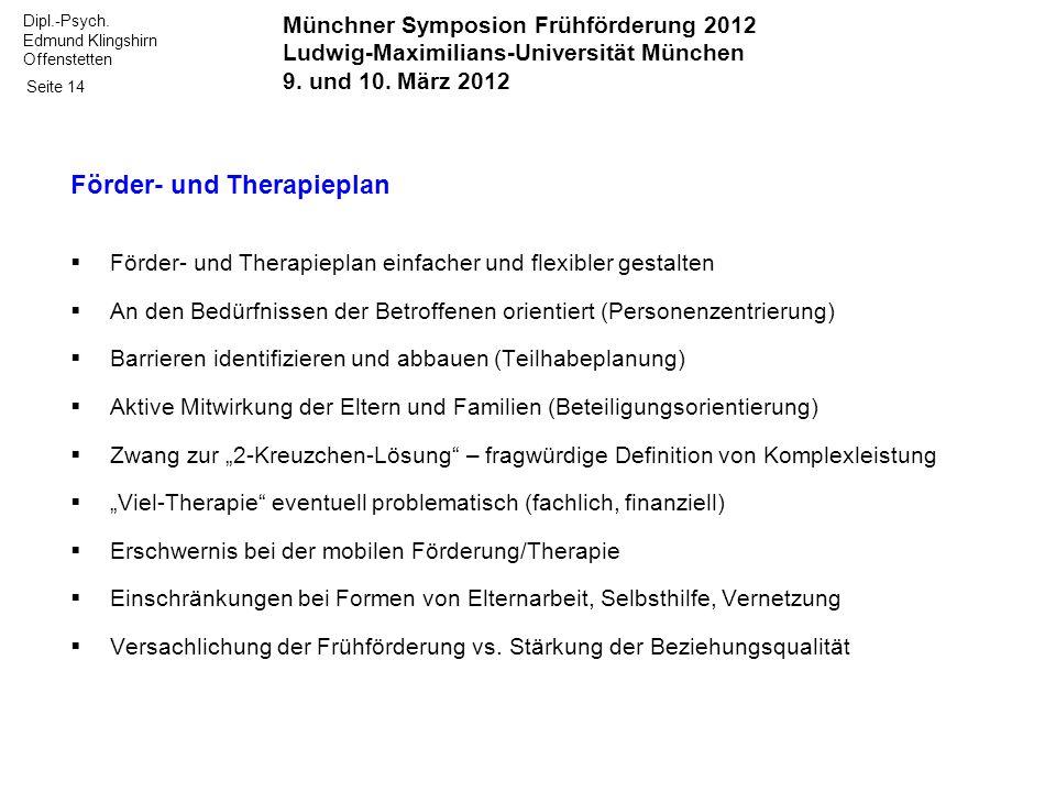 Förder- und Therapieplan
