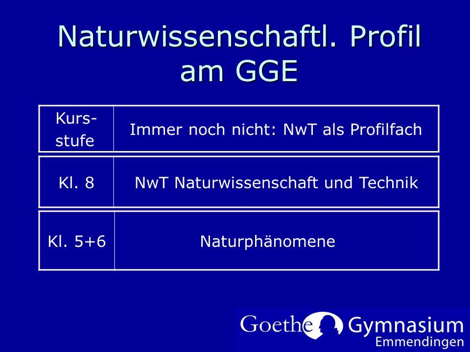 Naturwissenschaftl. Profil am GGE