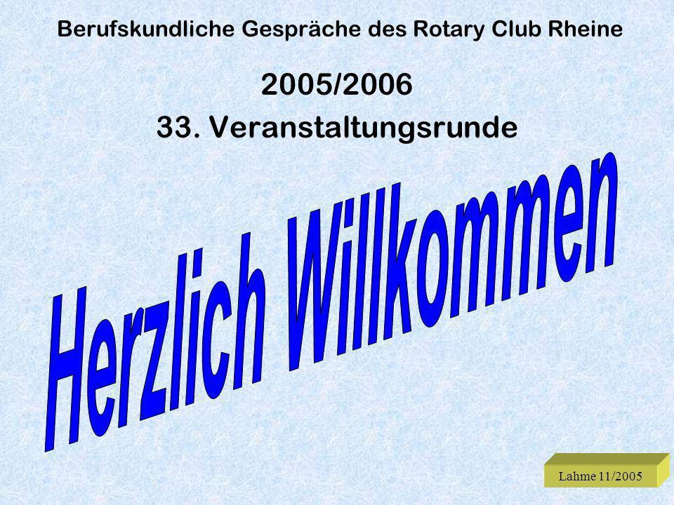Berufskundliche Gespräche des Rotary Club Rheine
