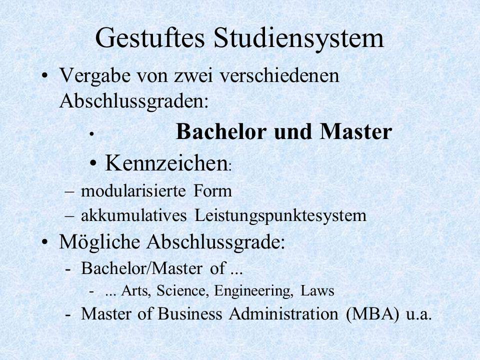 Gestuftes Studiensystem