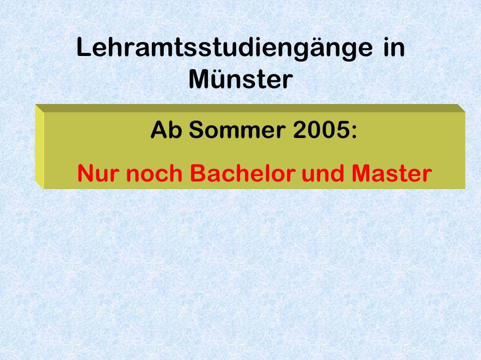 Lehramtsstudiengänge in Münster
