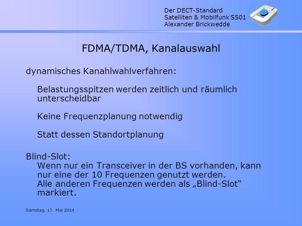 FDMA/TDMA, Kanalauswahl