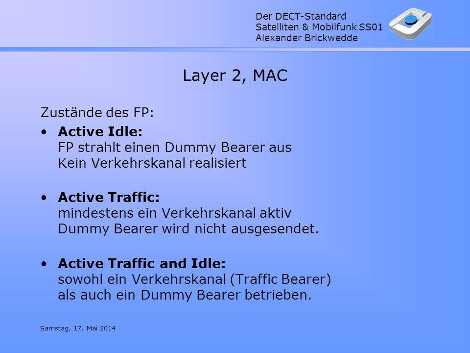 Layer 2, MAC Zustände des FP: