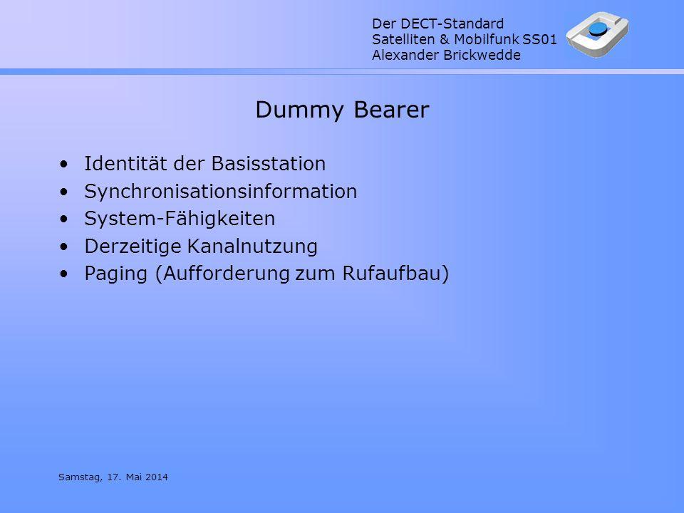 Dummy Bearer Identität der Basisstation Synchronisationsinformation