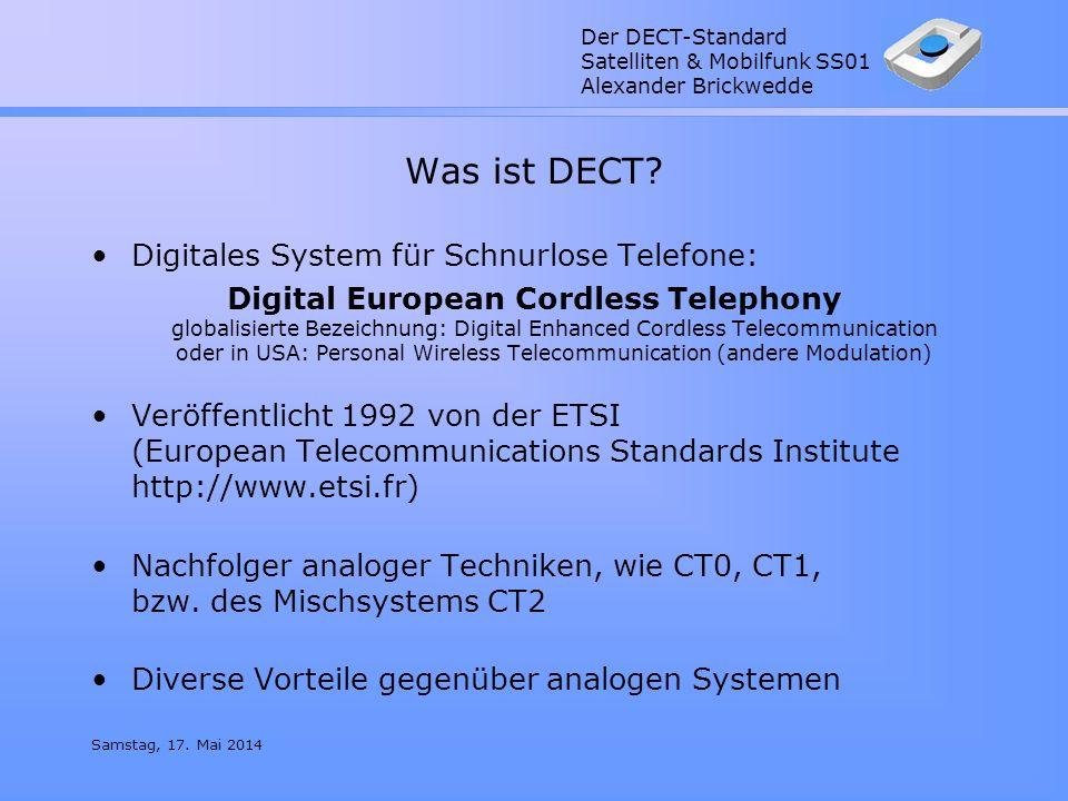 Was ist DECT Digitales System für Schnurlose Telefone: