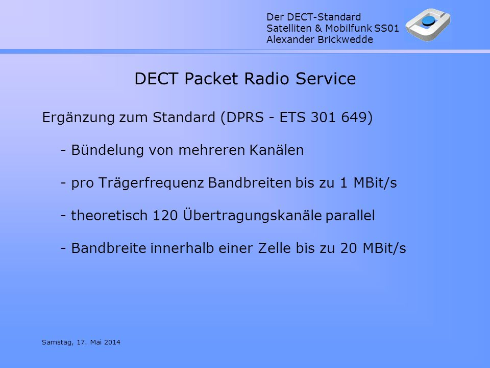 DECT Packet Radio Service