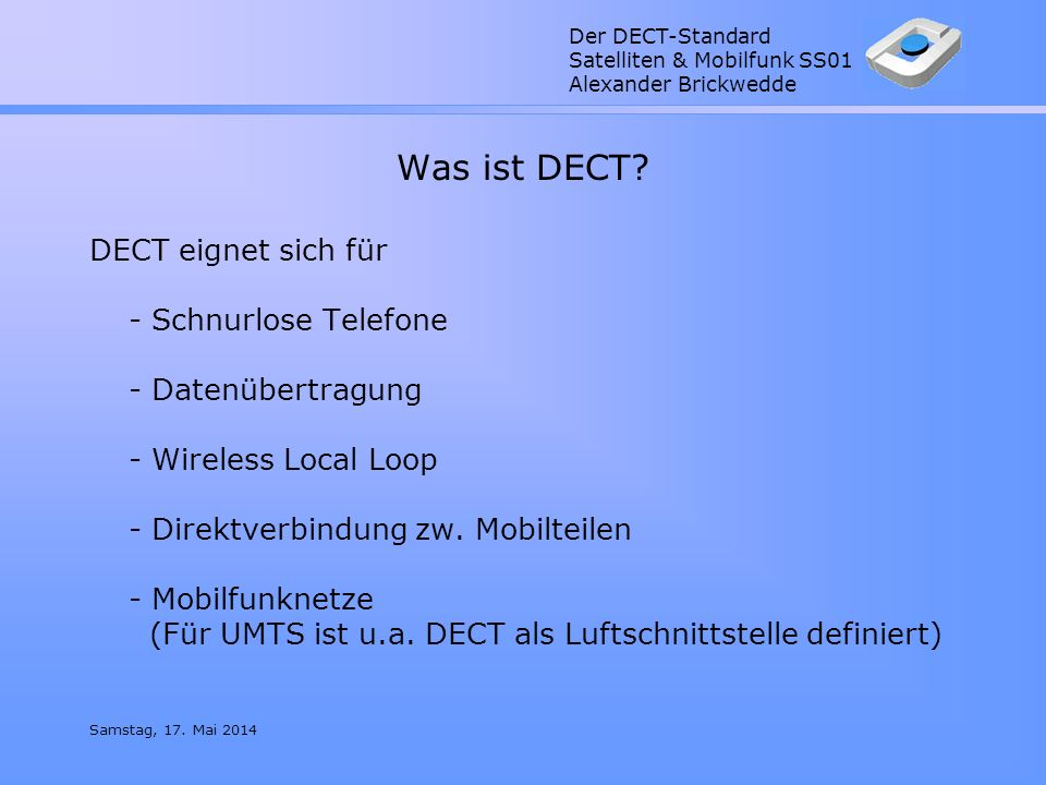 Was ist DECT