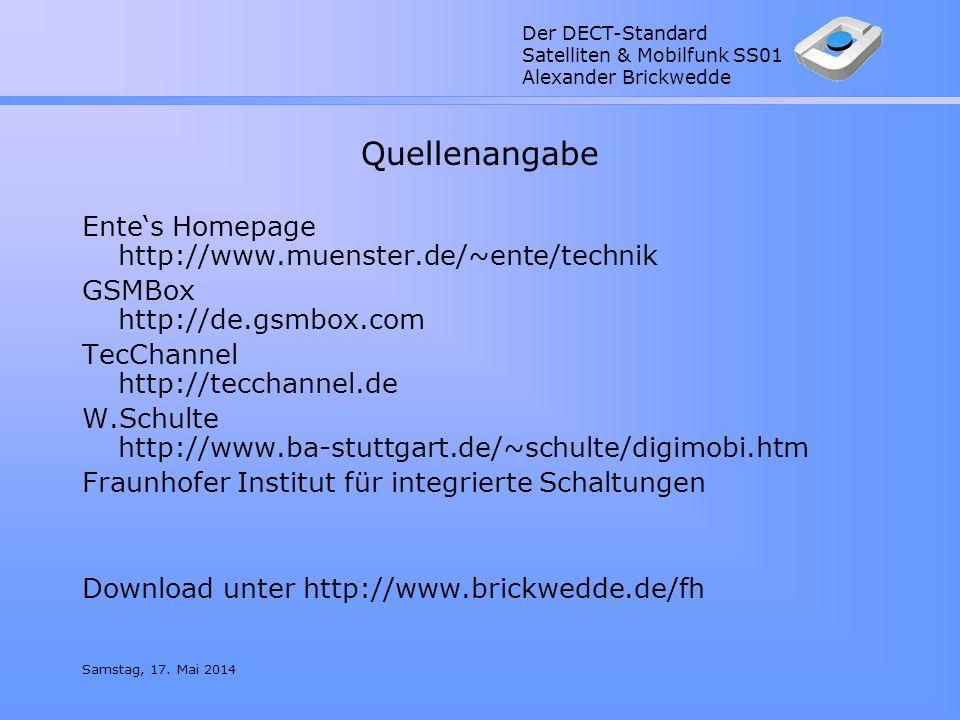 Quellenangabe Ente's Homepage http://www.muenster.de/~ente/technik