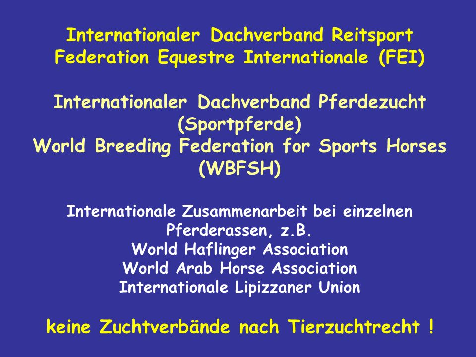 Internationaler Dachverband Reitsport