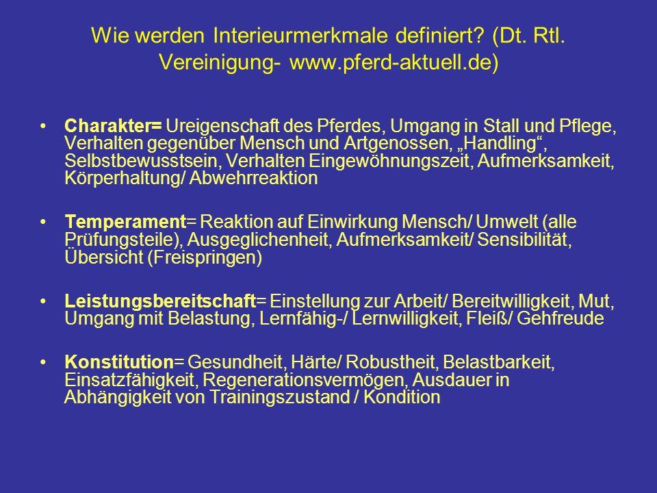 Wie werden Interieurmerkmale definiert. (Dt. Rtl. Vereinigung- www