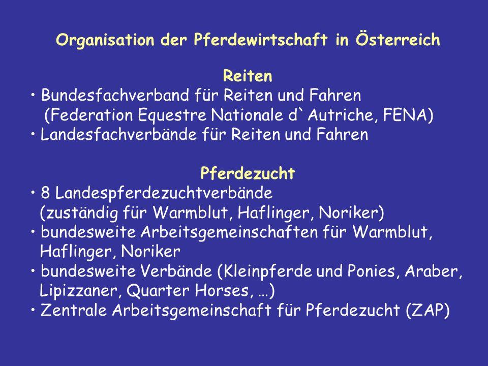 Organisation der Pferdewirtschaft in Österreich