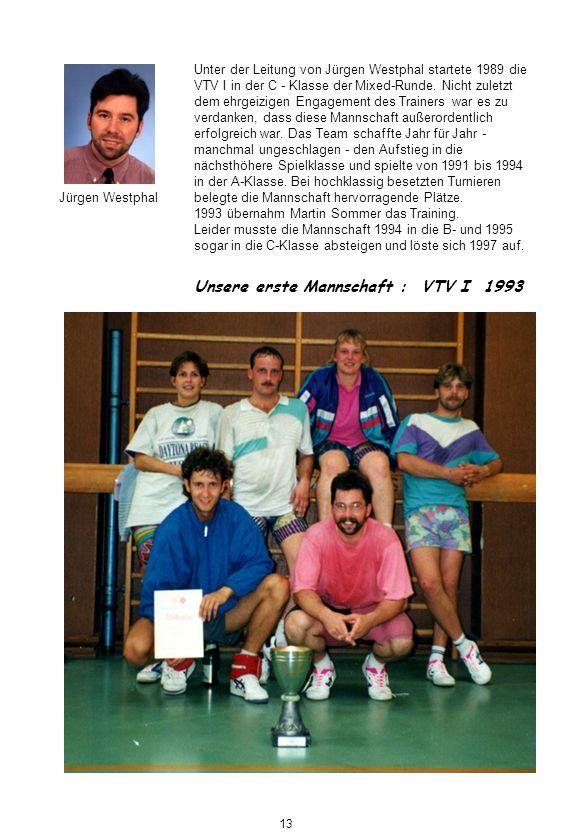 Unsere erste Mannschaft : VTV I 1993