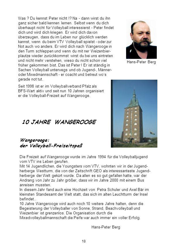 Hans-Peter Berg 10 JAHRE WANGEROOGE Wangerooge: