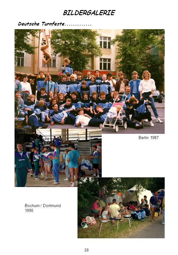 BILDERGALERIE Deutsche Turnfeste............. Berlin 1987