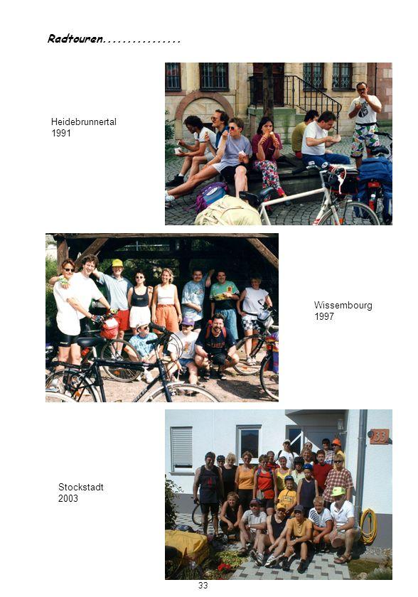 Radtouren................ Heidebrunnertal 1991 Wissembourg 1997