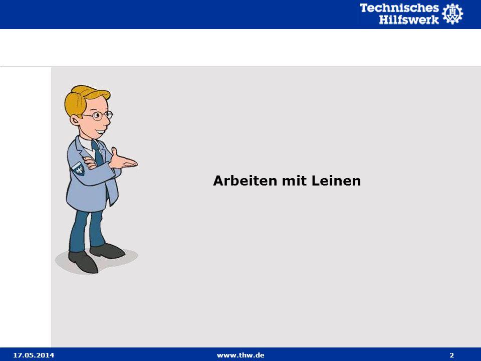 Arbeiten mit Leinen 31.03.2017 www.thw.de