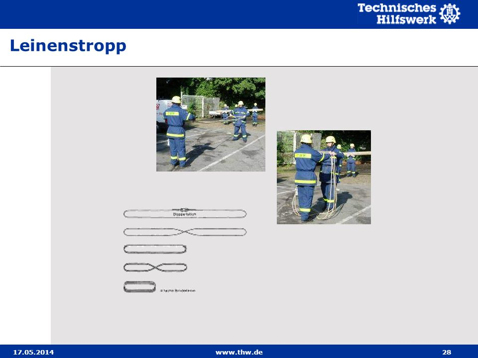 Leinenstropp 31.03.2017 www.thw.de