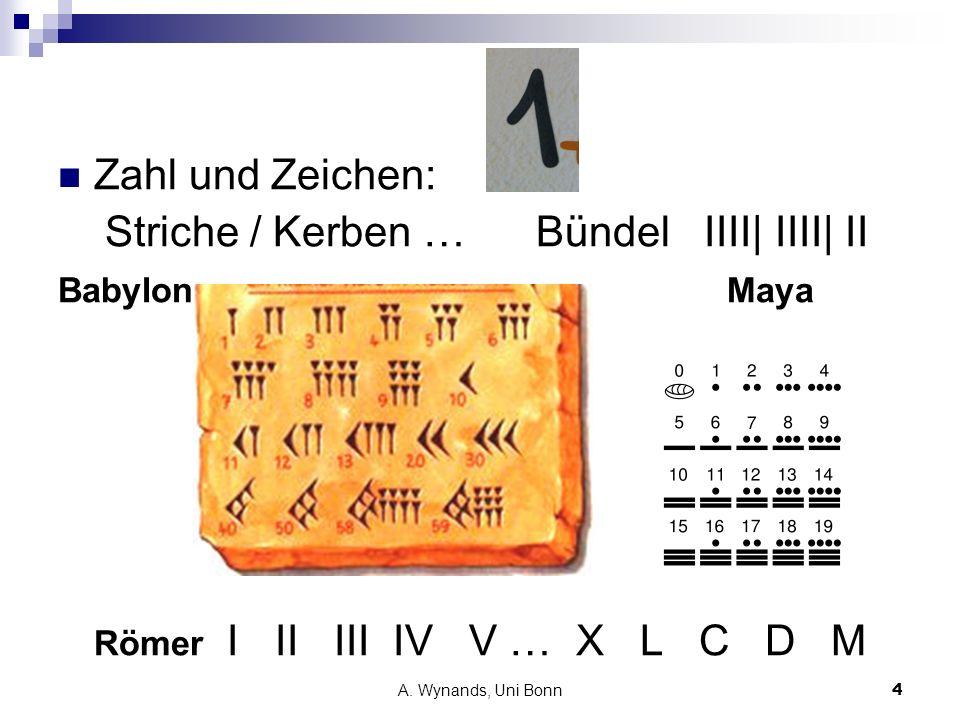 Striche / Kerben … Bündel IIII| IIII| II