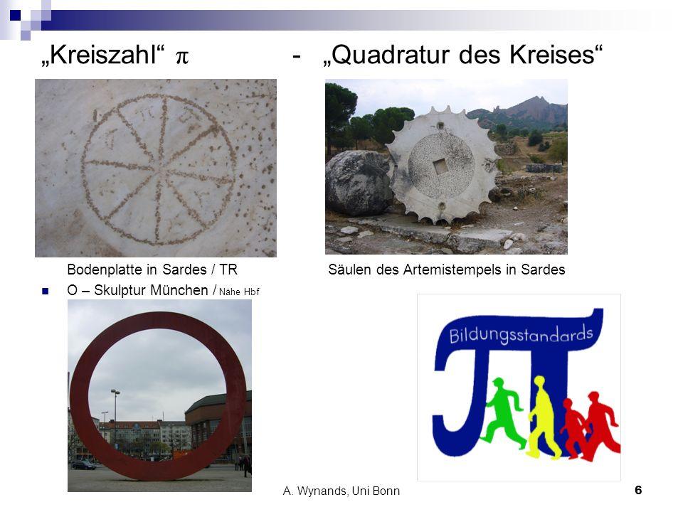 """""""Kreiszahl π - """"Quadratur des Kreises"""