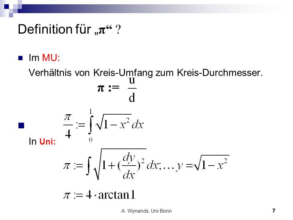 """Definition für """"π In Uni:"""