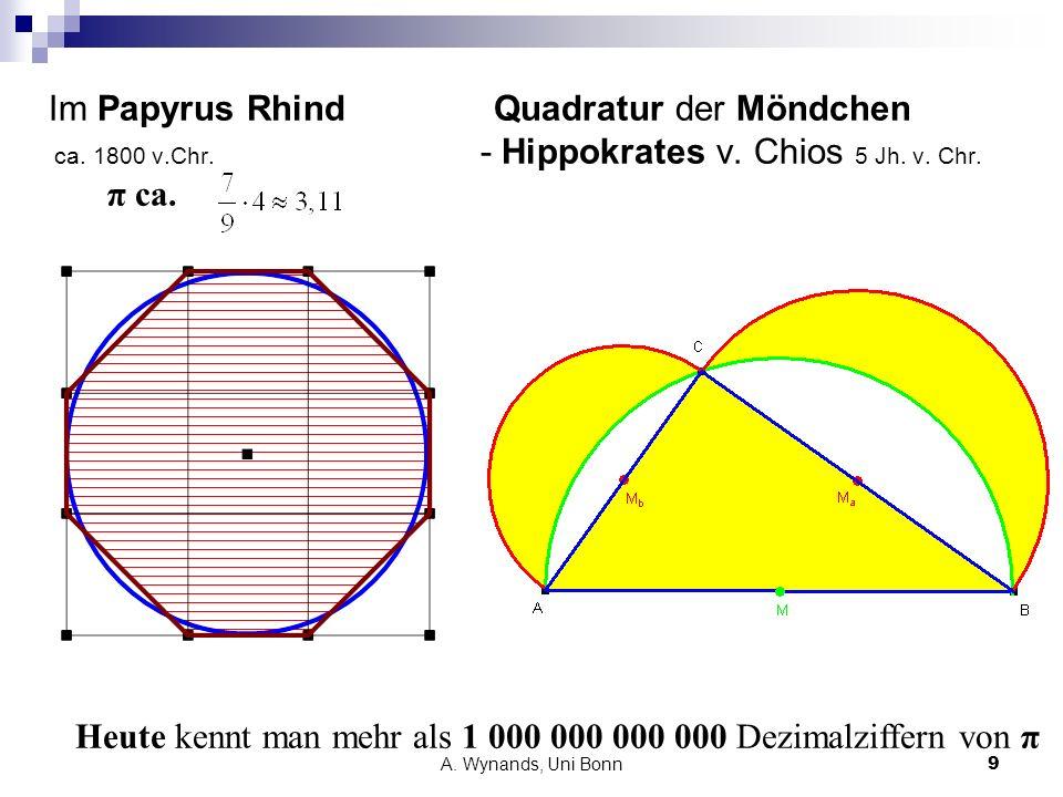 Heute kennt man mehr als 1 000 000 000 000 Dezimalziffern von π